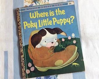 Where Is Poky Little Puppy, 1962 Little Golden Book