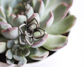 Stained glass succulent necklace. lotus wedding jewelry. botanical flower pendant