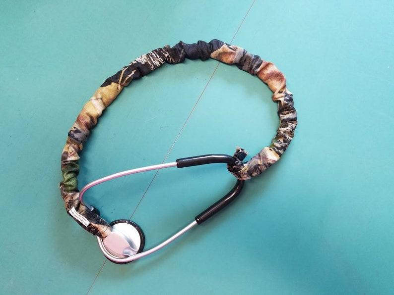 cd445ddba6ef3 Stethoscope Cover Scrunchie MOSSY OAK CAMO Protect bare neck & Tubing  Single, Dude, Double or Tunable style HandmadeUSA Snap Doc RNNurse Vet