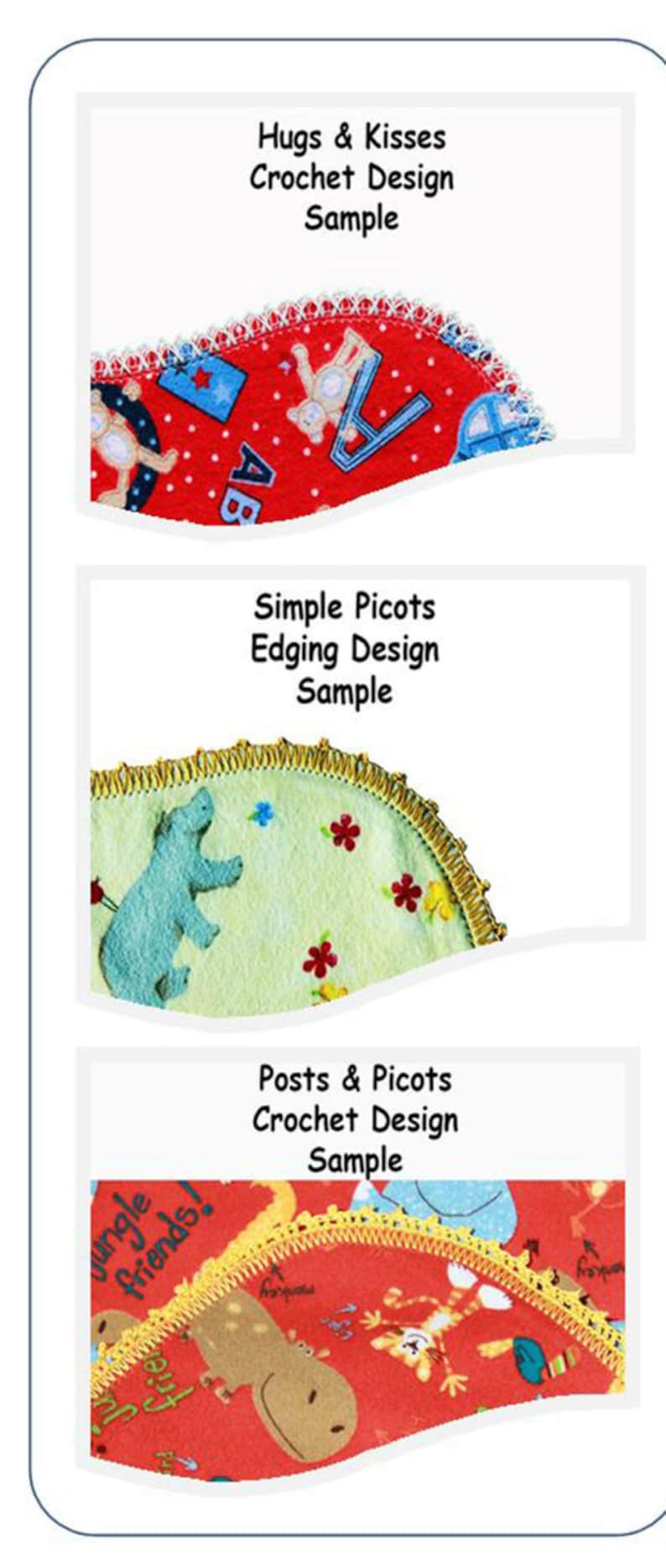 Hemstitched 3 Piece Flannel Burp Cloths Kit To The Rescue Stars With Coordinating Fabric on Reverse