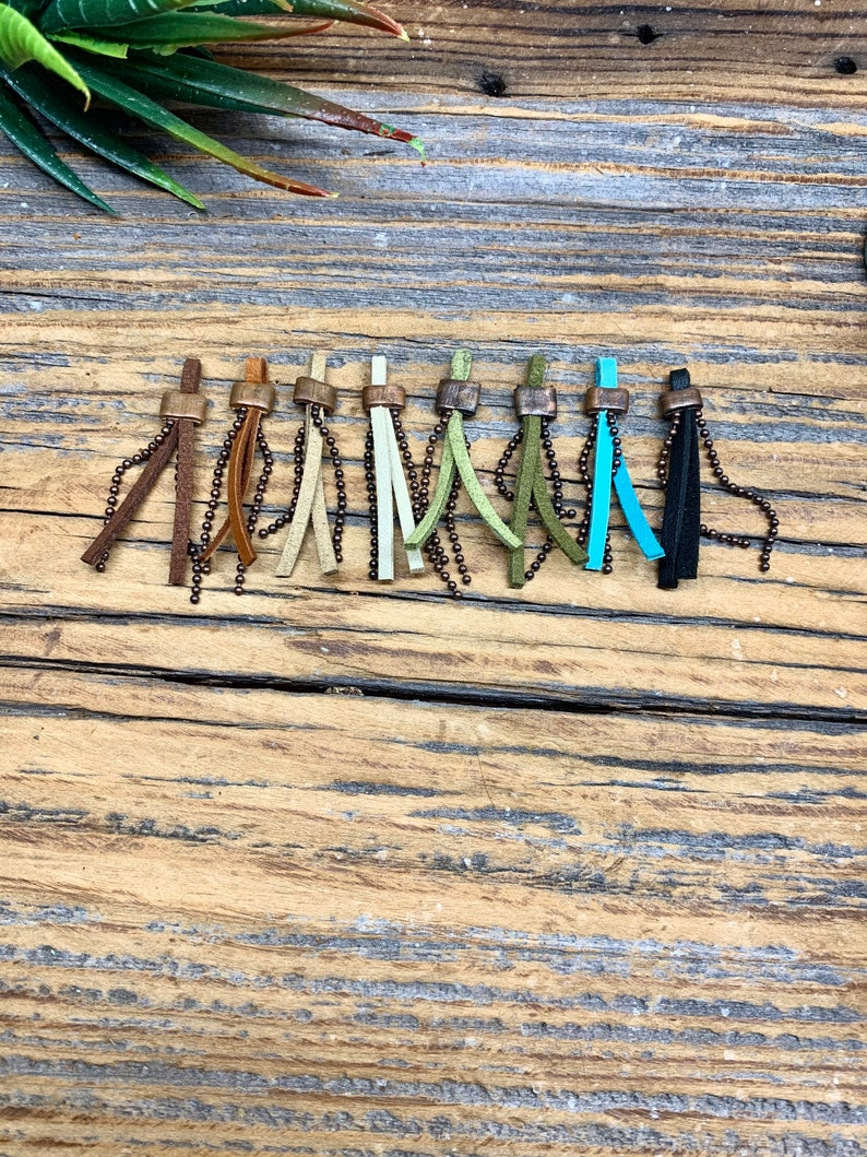 Handmade Boho Tassels with Copper Accent DIY Jewelry Findings Daringly Different Boho Chic Choose Your Color