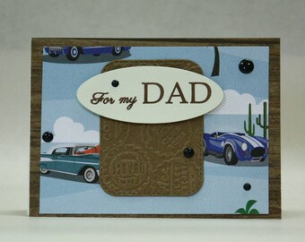Happy Father's Day for my dad road trip cars bottle caps driver Every Man Can Be a Father But Takes A Lot To Be A Daddy  old cars Roadster