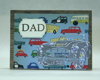 Happy Father's Day dad road trip cars driver Every Man Can Be a Father But Takes A Lot To Be A Daddy  police car station wagon VW bus