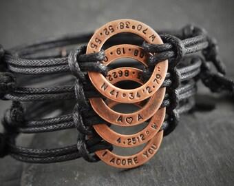 Personalized bracelet, bracelet for boyfriend, bracelet, boyfriend gift, birthday gift, anniversary, husband gift, mens, mens personalized,