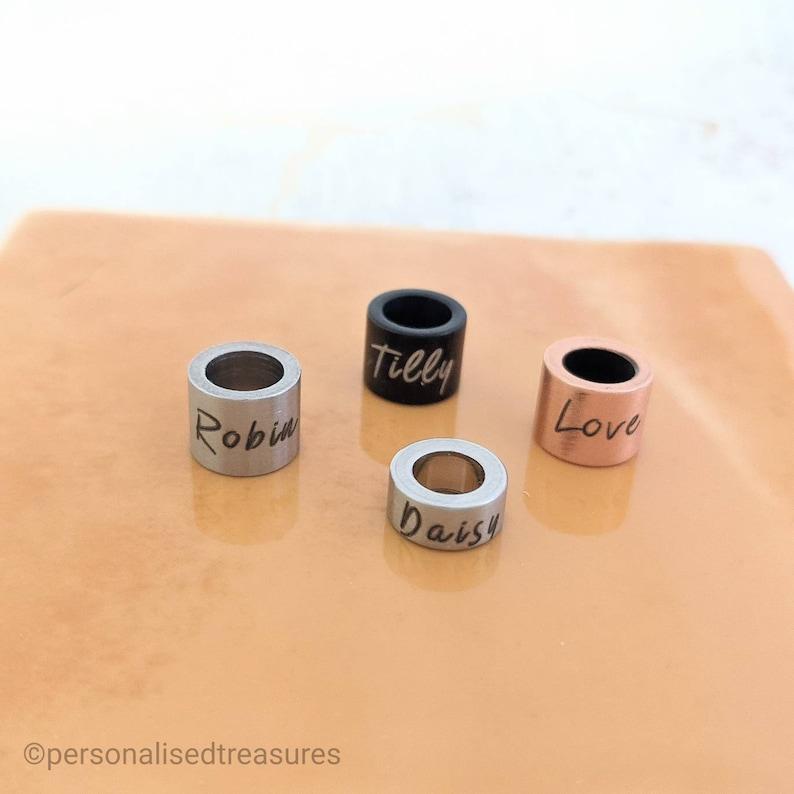 Personalised rings rings for bracelet engraved rings image 1