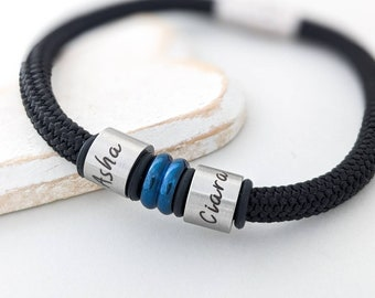 Personalised gifts, new dad gift, mens bracelet, wedding gifts, bereavement gift, granddad gift, mens, bracelet with charms