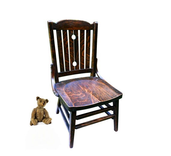 image 0 - Rare Arts & Crafts Farmhouse Oak Youth Chair Antique Childrens Etsy