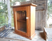 Antique Pine Rustic French Country Farmhouse Apothecary Spice Cupboard Medicine Cabinet Victorian French Cottage Rare Primitive Wall Display