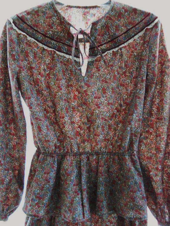 Vintage 1970s Flower Girl Dress Gunne Sax Prairie… - image 4