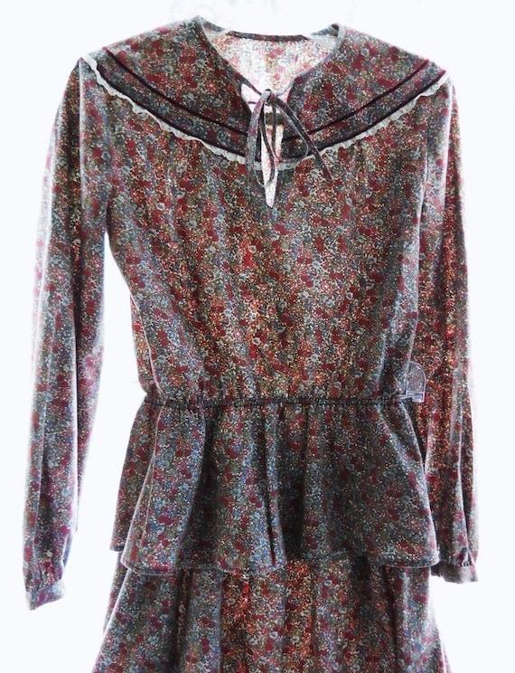 Vintage 1970s Flower Girl Dress Gunne Sax Prairie… - image 2