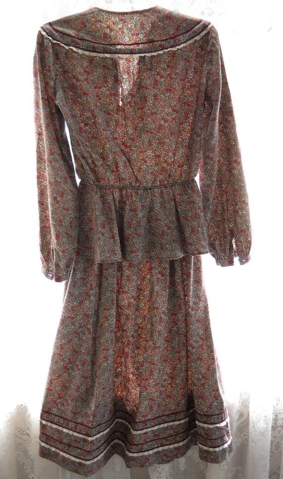 Vintage 1970s Flower Girl Dress Gunne Sax Prairie… - image 5