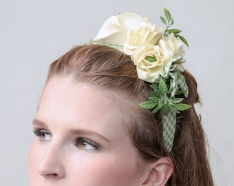 "Couture fascinator ""SPRING"" 1950's style, perfect for wedding"