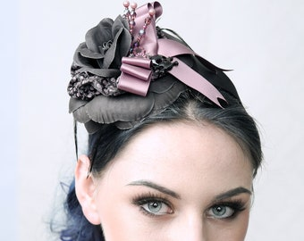 Couture fascinator 'Skully'