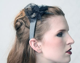 FRIZZEL - Denim - Fascinator Hat, Headband, Diadem