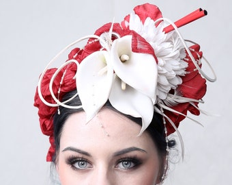 Couture headdress 'MAXIMUM INDIFFERENCE'