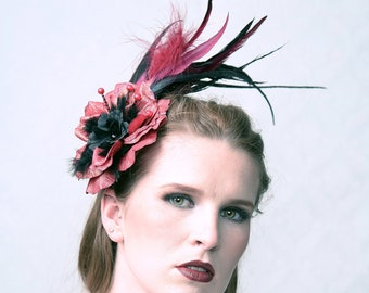 "Couture fascinator ""BURLESQUE"""
