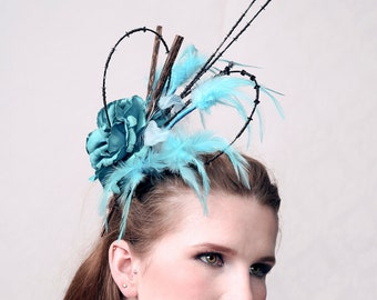 "Couture fascinator ""ADRENALINE"" perfect for wedding, prom ball and special occassion"