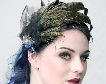 SWEET PUNCH - Couture fascinator for Wedding, Prom Ball, Burlesque or any other special occassion