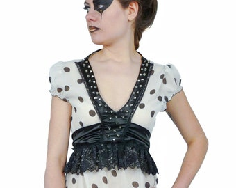POLKA - Couture top decorated with metal studs