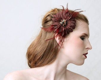 Flora Majora - Couture fascinator hair jewel, hair flower, clip