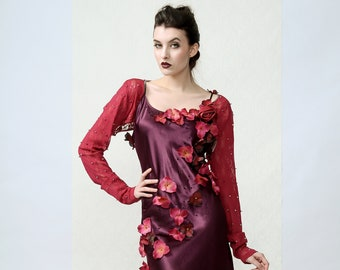 FAIRY - Purple Flower dress woth lace bolero vest