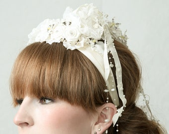 PEARL - Fascinator Headband for wedding, Ascot, gala, prom, red carpet, garden party
