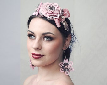 Couture Fascinator 'PINKY DOT'