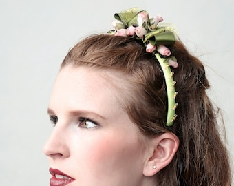 "Couture fascinator ""LOVELY OLIVE"""