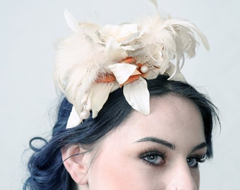 WINTER LADY - Fascinator Had, Wedding Hat, Ascot Hat, Prom Night, Red Carpet accessory