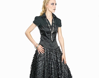 CIRCOLO - Couture black circle skirt for Alternative Wedding, Prom Ball, Drag Queen, Stage Performance or any other special occassion