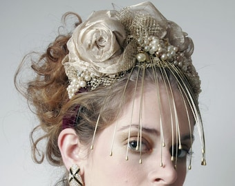 Couture Fascinator 'UNDER LOCK and KEY'