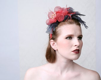 "Couture Fascinator ""SMOKEY"""