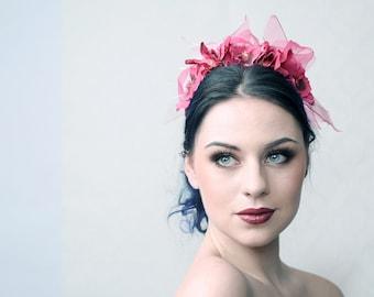 VIOLA - Headband for Wedding, Burlesque, My Sweet Sixteen party, Prom Night, Beach party, showbizz etc.
