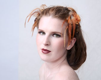 GING GING - Duo set fascinator hair accessory, hair jewel for wedding, Prom Night, Ascot Races, Beach Party etc.