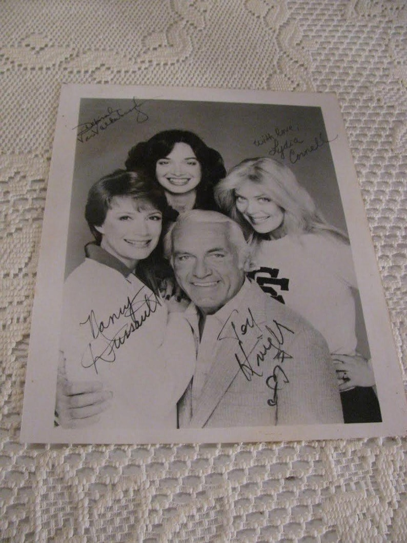 Ted Knight Too Close for Comfort Cast Promo 8x10 Photo Nancy Dussault,  Deborah Van Valkenburgh, Lydia Cornell Free USA Shipping and Tracking