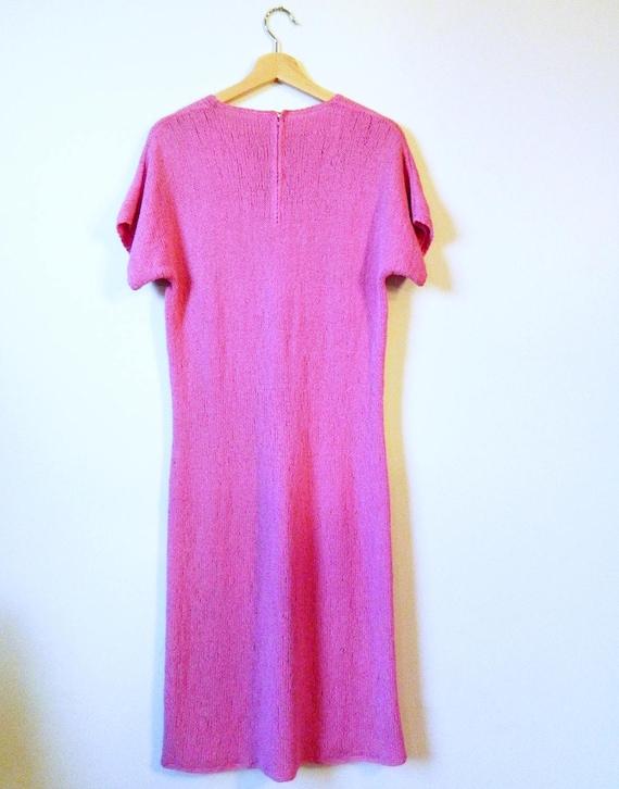 Vintage Radiant Orchid Knit Dress / Boho Knit Dre… - image 3