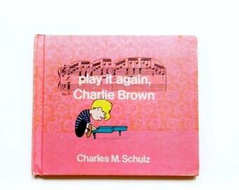 Vintage Charlie Brown Book / 1970s Charles M. Schulz / Retro Kids Books
