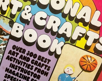 1970s Arts and Crafts Book / Retro DIY / Vintage Art Projects for Kids