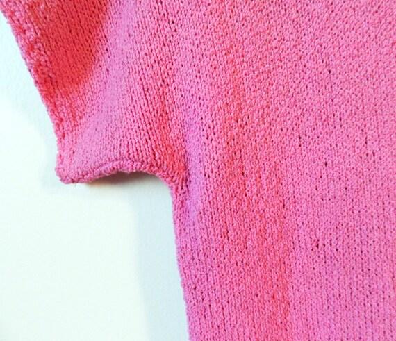 Vintage Radiant Orchid Knit Dress / Boho Knit Dre… - image 2