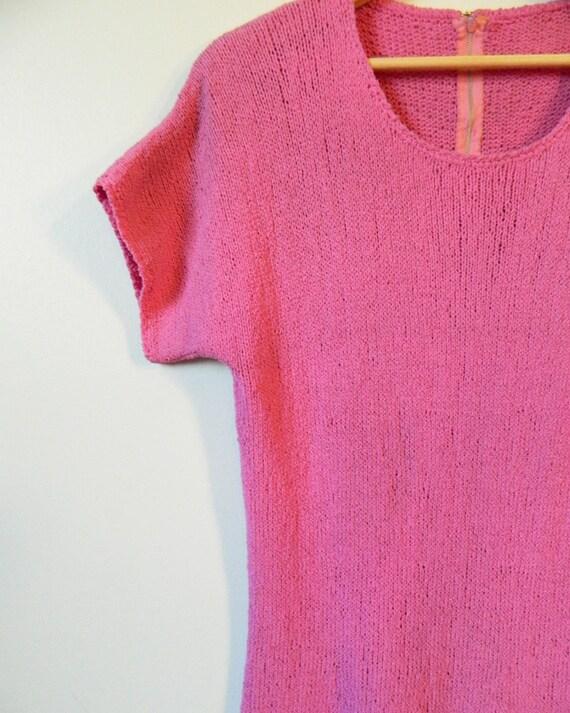 Vintage Radiant Orchid Knit Dress / Boho Knit Dre… - image 4