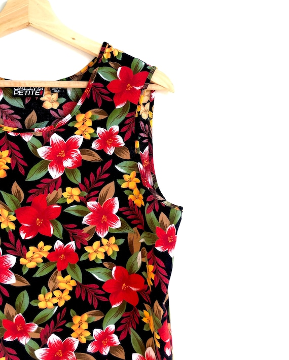 Bold Floral Tank Top / Summer Statement Blouse / … - image 3