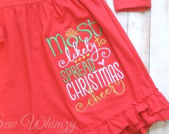 Natale camicia - Natale vestito - Monogram Girl di camicia o body-natale  camicia - camicia - Natale elfo di Natale Cheer camicia-ragazza della Santa 0e75f9e37978