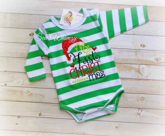 First Christmas bodysuit 1st Christmas shirt Baby s  66acc3c63