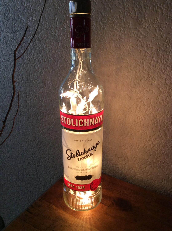 Stolichnaya Wodka Vodka Flasche Licht Wodka Flasche Licht