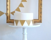 Gold Glitter and Sparkle Metallic Paper Garland Bunting Hanging Party Wedding Decoration Bridal Shower Gatsby Glamour