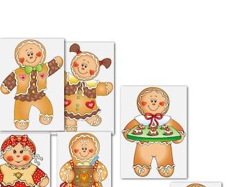 Gingerbread Joy, clipart