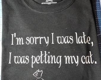 Petting my cat T-shirt