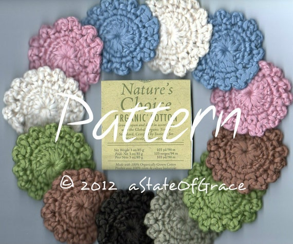 Pattern For Organic Facial Scrubbies Crochet Instant Etsy