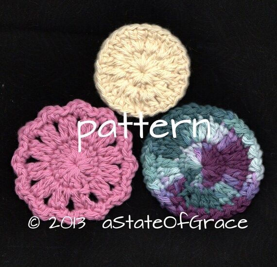 3 Facial Scrubbies Pattern Crochet Set 2 Instant Download Etsy