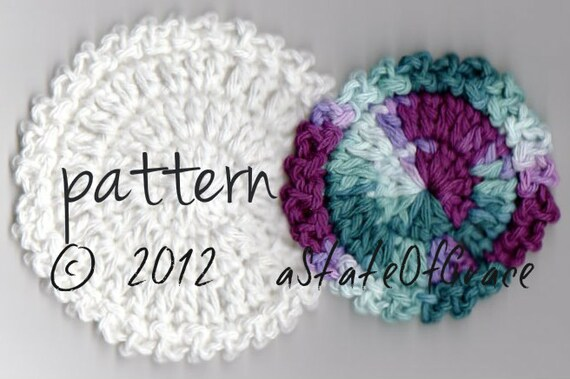 Facial Scrubbie Pattern 2 Sizes Crochet Thick And Soft Etsy